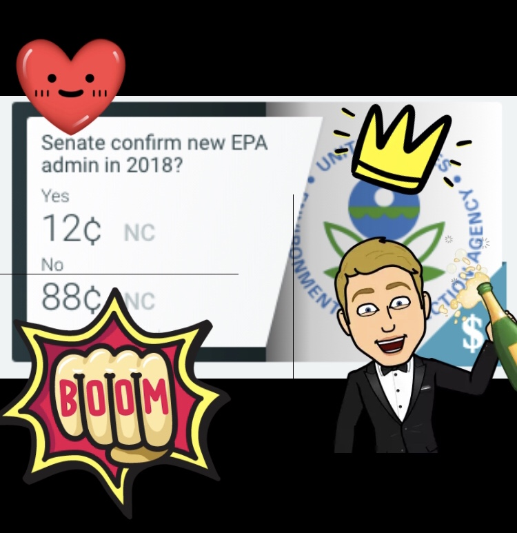 Will the Senate Confirm a New EPA Administrator Before 01/01/19 (12/88)