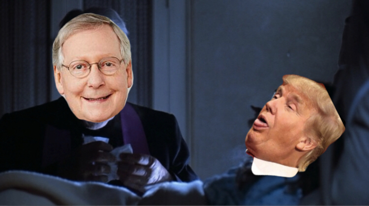 trump mcconnell excorcist